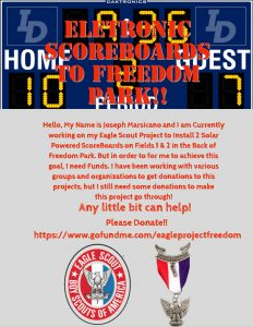 Joseph's Eagle Scout Project for Freedom Park